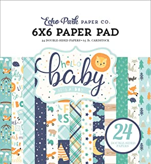 Teal Yellow Navy Orange Echo Park Paper Company Hello Baby Boy 6x13 Accents chipboard