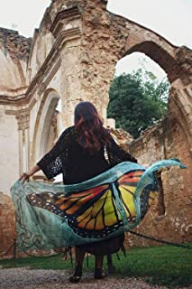 Pañuelo mariposa monarca - naturaleza realista