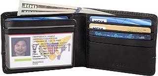 RFID Blocking Bifold Leather Wallet Passcase