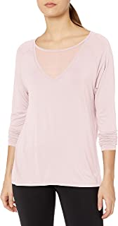 Danskin Women's Mesh Insert Long Sleeve Tee