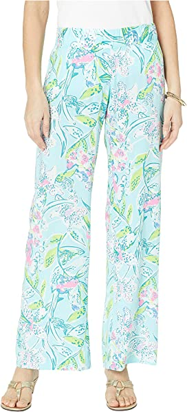 49a62c74a5c573 Lilly Pulitzer. Aden Linen Pants. $118.00. Bal Harbour Palazzo