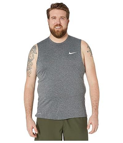 Nike Big Tall Pro Top Sleeveless Slim (Dark Smoke Grey/Particle Grey/White) Men