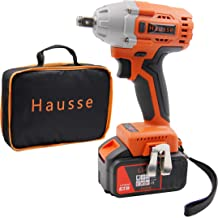 Hausse Cordless Power Impact Wrench 20V 1/2 Inch with Rechargeable Lithium Battery, 6..