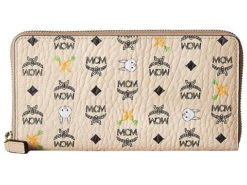MCM Rabbit Zipped Wallet Large