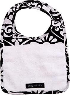 Ah Goo Baby Bib, 100% Cotton Terry Cloth, Wrap Around Collar, Magnetic Closure, Audrey Pattern