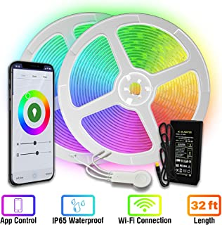 [Upgraded 2020] WiFi LED Strip Lights 33ft by TBI Waterproof Smart Works with Alexa,..