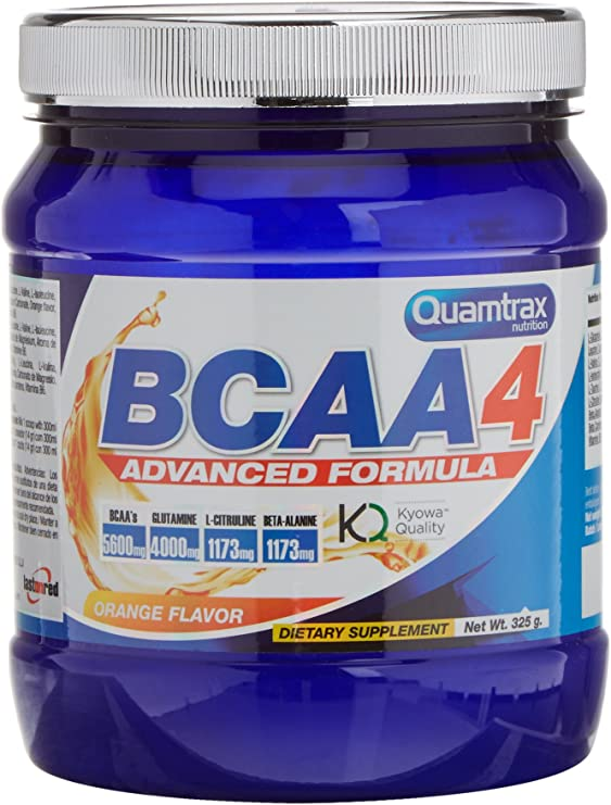 Quamtrax BCAA 4 en polvo Sabor Naranja - 325 gr
