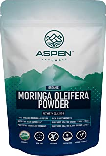 Aspen Naturals Organic Moringa Powder - Nutritious Superfood from The Oleifera Leaf. Powerful Source of Vit...
