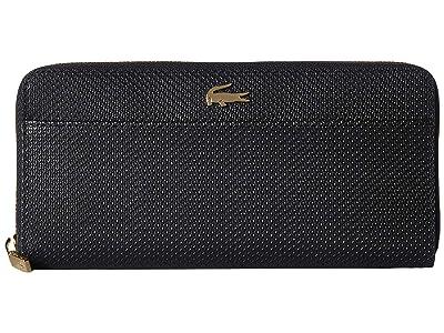 Lacoste Chantaco Large Zip Wallet (Black 2) Wallet Handbags