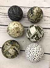 Army Military Camo fabric Wrapped Balls- Bowl Filler Orbs