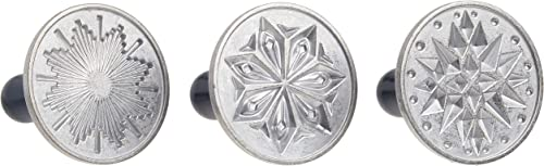 lowest Nordic Ware Starry Night Cast Cookie discount Stamps, 3-inch wholesale rounds, Silver online sale