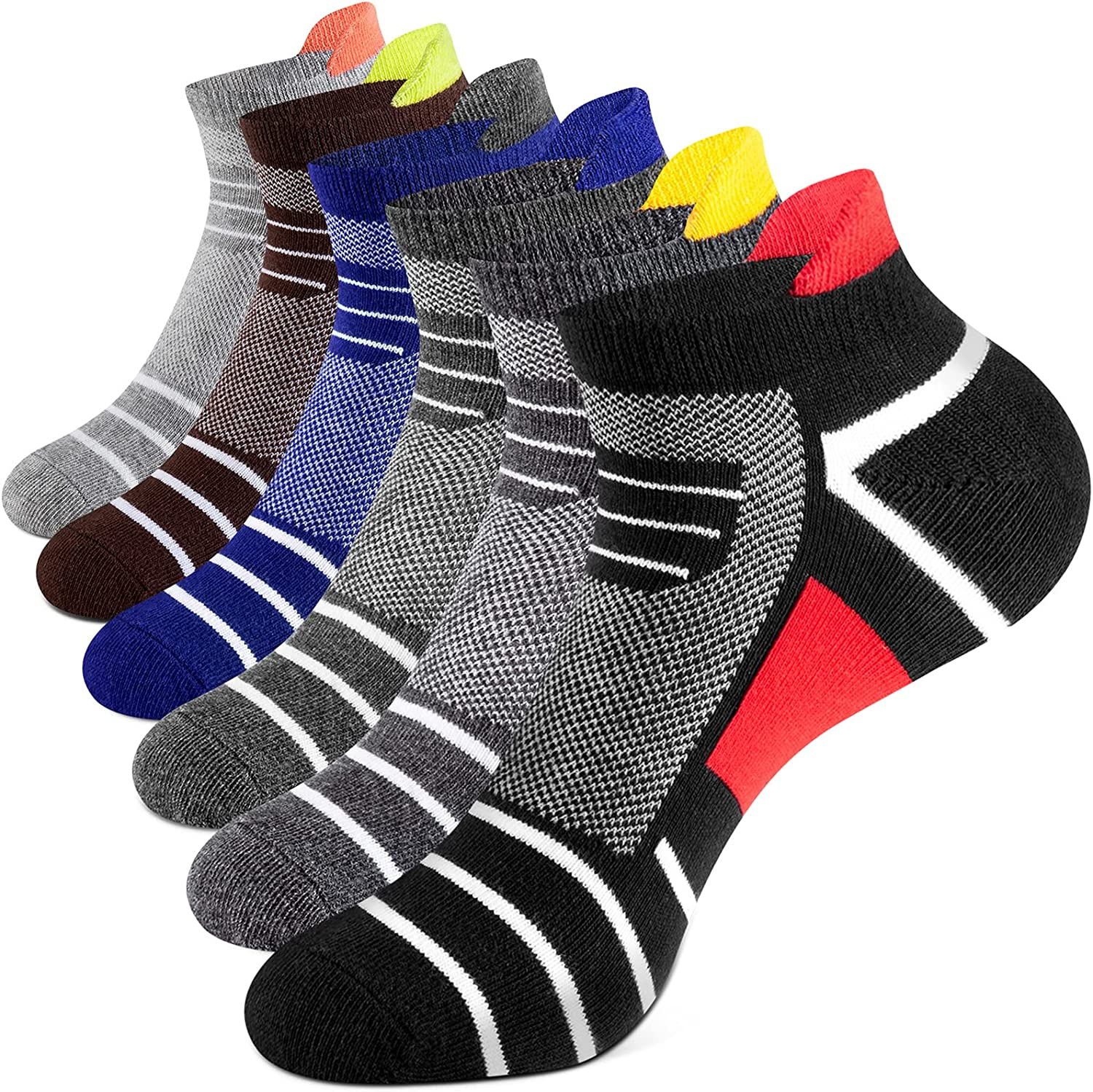 Onmaita Ankle Socks for Men and Women, 6 Pairs Cotton Socks for Work, Sport and Daily Life