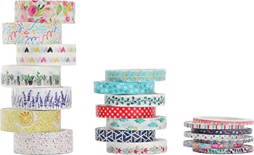Mr. Pen- Washi Tape Set, 21 Pcs, Floral Washi Tape, Washi Tape, Bullet Journal Supplies, Decorative Tape, Cute Washi Tape,...