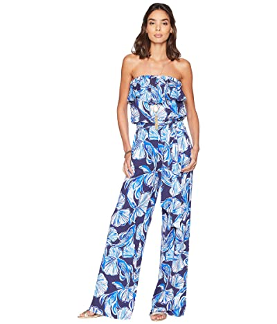 Lilly Pulitzer Aleatha Jumpsuit (Bright Navy in Reel Life) Women