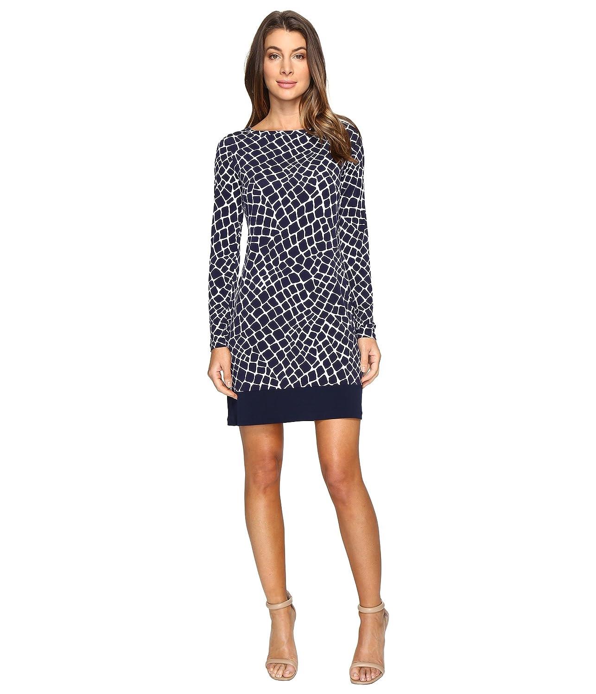 [マイケル マイケルコース] MICHAEL Michael Kors レディース Nyla Croc Long Sleeve Border Dress ドレス True Navy XL [並行輸入品]
