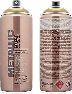 Montana Cans MXE-MC1030 Montana Effect 400ml Metallic Color, Aztec Gold Spray Paint,