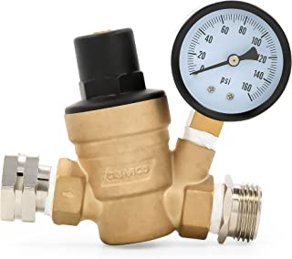 Camco 40058 Adjustable Brass Water Pressure Regulator – Helps Prevent Damage To..