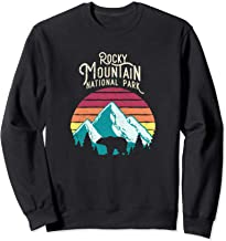 Retro Rocky Mountain National Park Colorado Bear Sweat Shirt