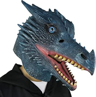 Halloween Costume Latex Moving Mouth Mask Animal Dragon Mask for Cosplay