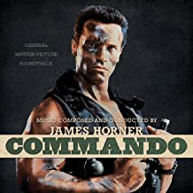 Commando Soundtrack Limited Bone with Black Face Paint Splatter Edition
