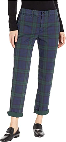 Tartan Stretch Cotton Skinny Pants
