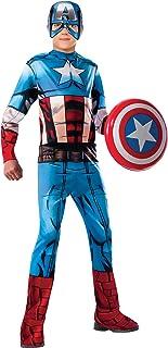Rubie's 620019-M Avengers - Disfraz Capitán América para niño, Talla M (5-7 años)