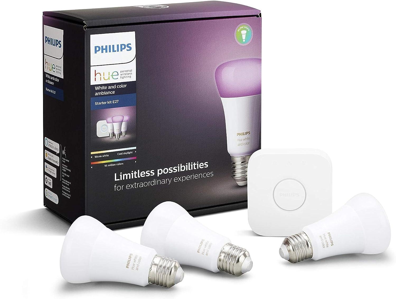 Philips Hue Blanco&Color Ambiance Starter Set 3xE27 LED BT + Bridge