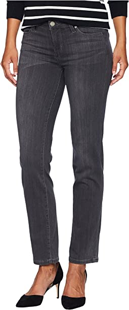 Petite Sadie Straight in Silky Soft Stretch Denim in Meteorite Wash