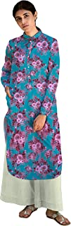 RADANYA Floral Printed Full Sleeve Cotton Top Tunic Kurta for Women's