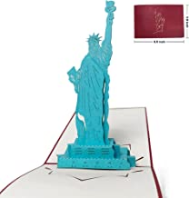 Popuppeach New York City Greeting Card Unique Pop Up Card Designed Statue of Liberty 3D Card