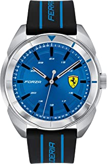 Ferrari Forza, Quartz Stainless Steel and Silicone Strap Casual Watch, Black, Men, 830545