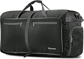 Gonex 100L Foldable Travel Duffel Bag for Luggage Gym Sports, Lightweight Travel Bag with Big Capacity, Water Repellent (Grey)