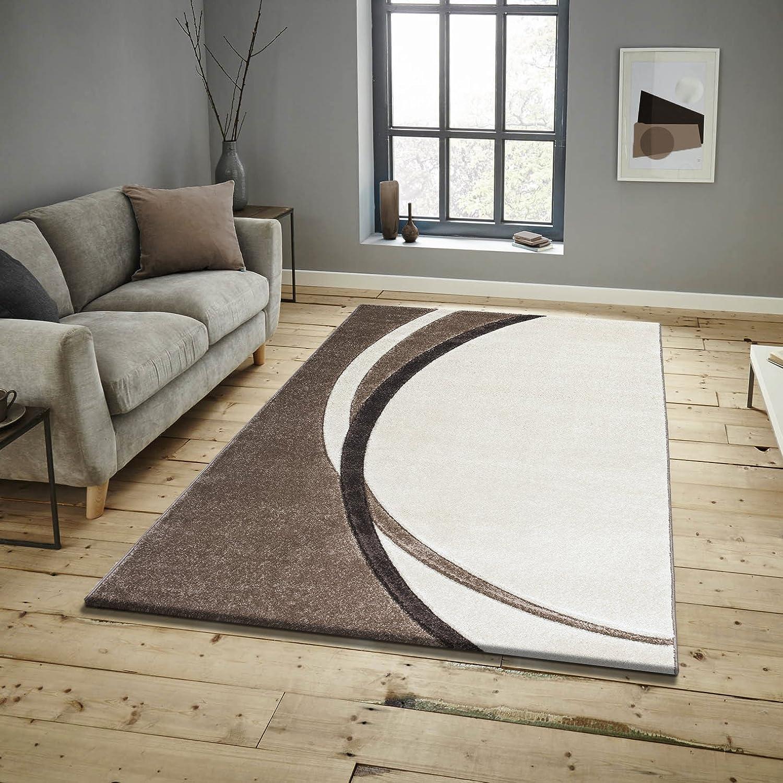 Keymura Wohnzimmerteppich im Modernem Design Prada Teppich mit Hoch-Tief Hoch-Tief Hoch-Tief Motiv Florhöhe 15 mm Farbe  Natur Braun Beige Größe  120x170 cm B075QD9X72 6cad93