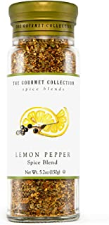 The Gourmet Collection Seasoning Blends Lemon Pepper Spice Blen -Seasoning Rub for Cooking Fish, Seafood, Chicken, Pasta, ...