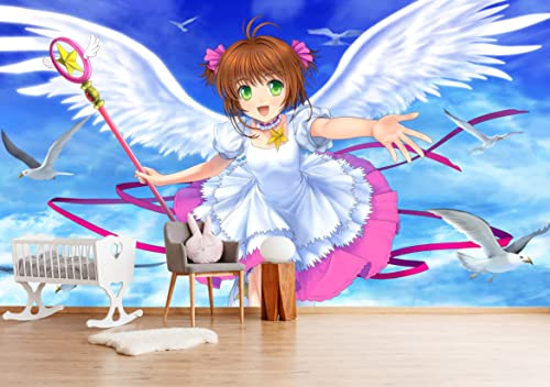 "3D Cardcaptor Sakura 228 Japan Anime Tapeten Drucken Spiel Karikatur Cosplay   Selbstklebend Tapete MXY WALLPAPER DE Wendy   , 【205""x114""】520x290cm  )"