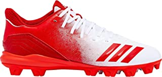 adidas Men's Icon 4 Splash MD Baseball Cleats (7.5,  White/Red)