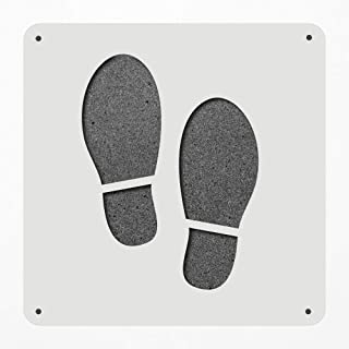 Stencil Large 12 Inch Footsteps Foot Shoes Footprints Plastic Mylar Stencil Painting, Walls, Crafts, Signs, Item 500229