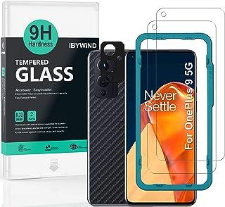 Ibywind ガラスフィルム OnePlus 9 用 強化 ガラス 保護 フィルム 2枚セット カメラレンズプロテ クター付き(金属材料) 背面保護フィルム付き 簡単装着キット付き