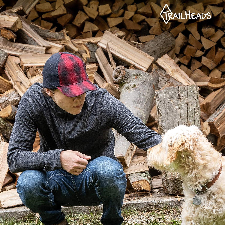 TrailHeads Mens Winter Hat Trucker Hat with Drop Down Ear Warmers