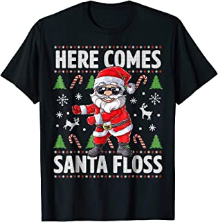 Santa Floss Like a Boss Christmas Shirt Boys Kids Flossing