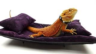 Chaise Lounge for Bearded Dragons, Dark Purple Batik Fabric