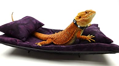 Chaise Lounge for Bearded Dragons, Dark Purple Batik Fabric