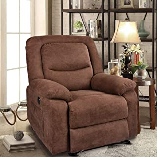 Recliner Chair Sleeper Reading Chairs for Bedroom Oversized Linen Recliner Chairs for Living Room Theater Seating Power Re...