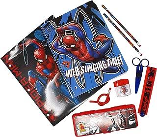 Marvel Spiderman School Supplies Set with Pencil Case, Notebook, Folders & Pencils