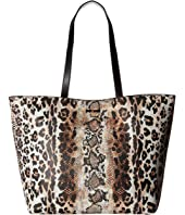Just Cavalli - Mixed Printed Saffiano Shopping Tote