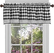 Amazon Com Black And White Kitchen Curtains