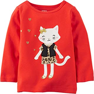 Carter's Baby Girl's Leopard Appliqué Tee (12m, Red)