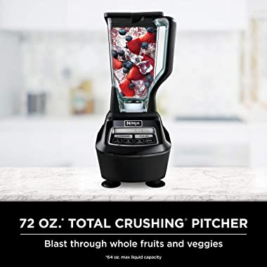 Ninja BL770 Mega Kitchen System and Blender with Total Crushing Pitcher, Food Processor Bowl, Dough Blade, To Go Cups, 1500-W