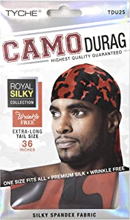 Tyche Silky Durag Royal Silky Collection Ultra Stretch Red Camo