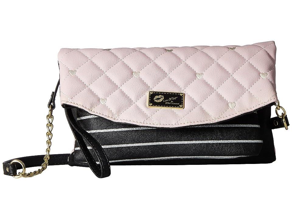 Luv Betsey Avery Convertible Crossbody to Wristlet (Blush/Black) Cross Body Handbags